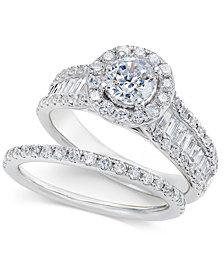 Diamond Bridal Set (2 ct. t.w.) in 14k White Gold