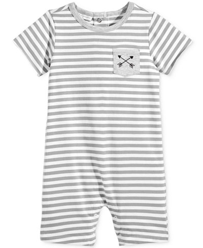 First Impressions Striped Pocket Romper, Baby Boys (0-24 months), Only at Macy's