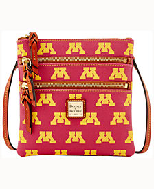 Dooney & Bourke Minnesota Golden Gophers Triple-Zip Crossbody Bag