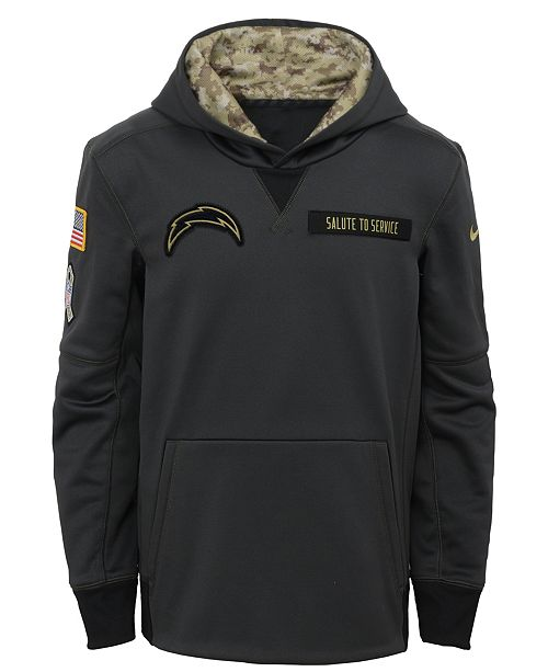 watch 3f50a 5386c Nike San Diego Chargers Salute to Service Hoodie, Big Boys ...