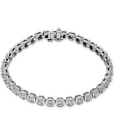 Certified Diamond Tennis Bracelet (4 ct. t.w.) in 14k White Gold