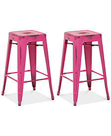 "Galan 26"" Metal Bar Stool (Set Of 2), Quick Ship"