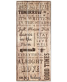 Best Day Ever Print on Wood