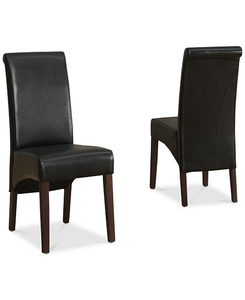 Admirable Easton Set Of 2 Faux Leather Deluxe Parson Chairs Quick Ship Creativecarmelina Interior Chair Design Creativecarmelinacom