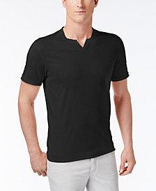 I.N.C. Men's Soft Touch Split-Neck T-Shirt, Created for Macy's
