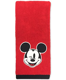 "Jay Franco Big Face Mickey Mouse 16"" x 26"" Hand Towel"