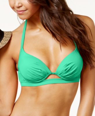 Image of Sundazed Scarlet Underwire Bra-Sized Push-Up Halter Bikini Top, Created for Macy's