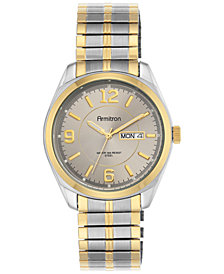 Armitron Men's Two-Tone Stainless Steel Bracelet Watch 39mm 20-4591GYTT