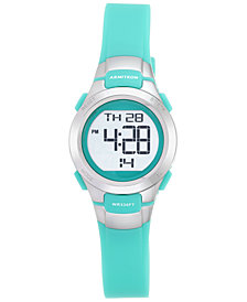 Armitron Women's Teal Resin Strap Watch 27mm 45-7012TEL