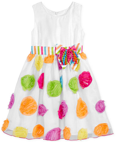 Bonnie Jean Birthday Dot Party Dress, Toddler & Little Girls (2T-6X)