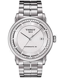 Tissot Men's Swiss Automatic T-Classic Luxury Powermatic 80 Stainless Steel Bracelet Watch 41mm T0864071103100