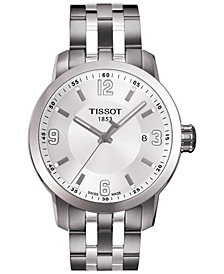 Tissot Men's Swiss PRC 200 Stainless Steel Bracelet Watch 39mm T0554101101700