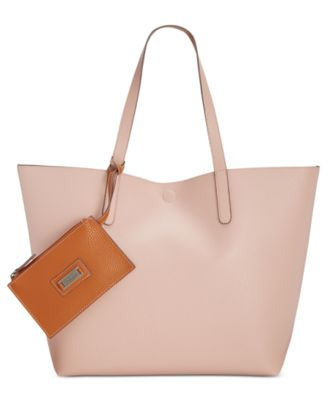 Image of Style & Co Clean Cut Reversible Tote with Wristlet, Only at Macy's