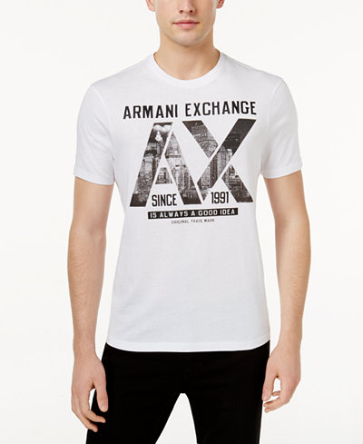 armani exchange men 39 s graphic print t shirt t shirts