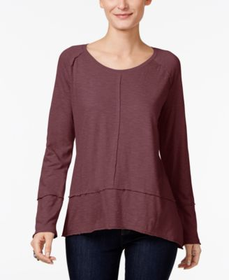 Image of Style & Co Exposed-Seam Top, Only at Macy's