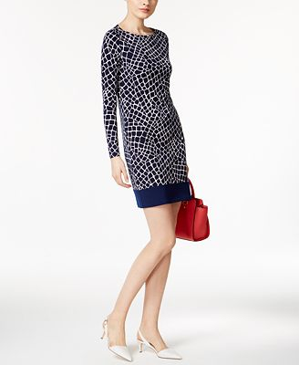 MICHAEL Michael Kors Nyla Printed Shift Dress