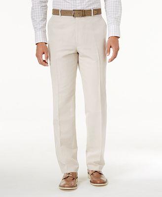 INC International Concepts Men's Linen-Blend Dress Pants, Only at ...