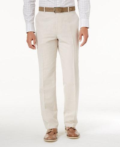 INC International Concepts Men's Linen-Blend Dress Pants, Created for Macy's