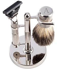 Men's Monogrammed Razor & Brush Set