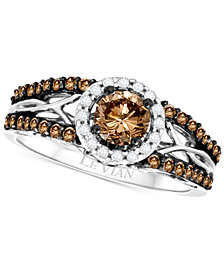 Le Vian Bridal® Diamond Openwork Ring (9/10 ct. t.w.) in 14k White Gold