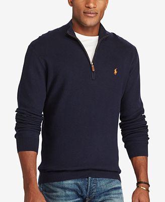 Polo Ralph Lauren Men's Big & Tall Half-Zip Sweater