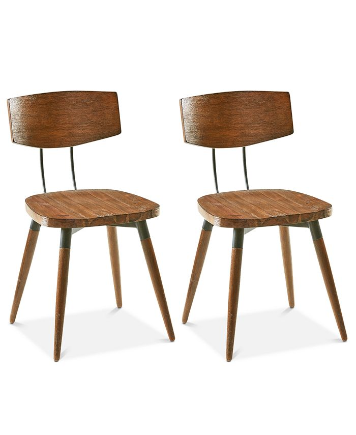 Furniture - Frazier Set of 2 Dining Chairs, Direct Ship