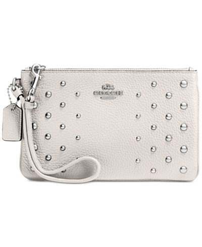COACH Ombré Rivets Small Wrislet in Pebble Leather