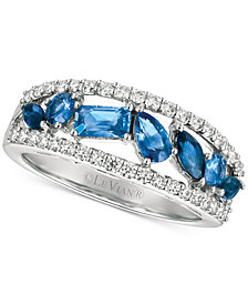 Le Vian® Sapphire (1 ct. t.w.) and Diamond (3/8 ct. t.w.) Ring in 14k White Gold, Created for Macy's