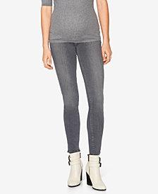 Paige Denim Maternity Grey-Wash Skinny Jeans