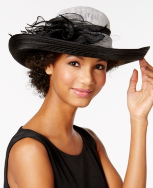 Edwardian Style Hats, Titanic Hats, Derby Hats August Hats Calla Lily Dressy Hat $72.00 AT vintagedancer.com