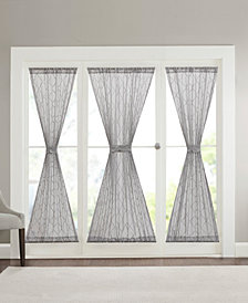 "Madison Park Irina 25"" x 40"" Embroidered Diamond Sheer Sidelight Panel"