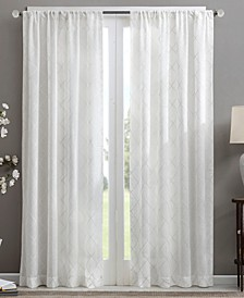 Irina Embroidered Diamond Sheer Window Treatment Collection