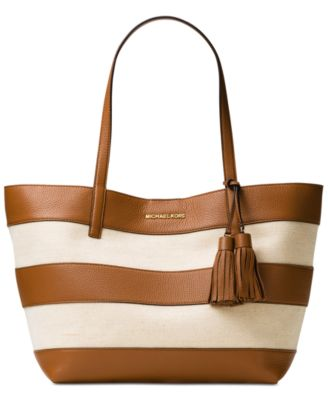 Image of MICHAEL Michael Kors Striped Large East West Tote