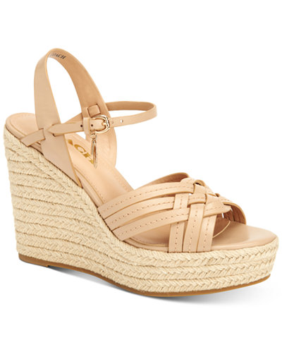 COACH Dottie Espadrille Wedge Sandals