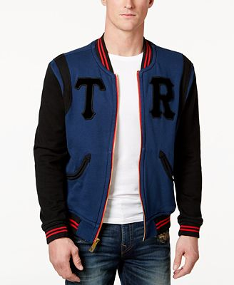 True Religion Men's Collegiate Bomber Jacket - Blue Coat - SLP ...