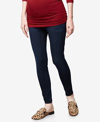 DL1961 Maternity Dark-Wash Skinny Jeans