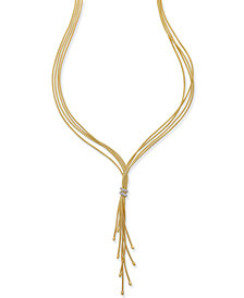 Diamond Tassel Lariat Necklace (1/4 ct. t.w.) in 14k Gold-Plated Sterling Silver