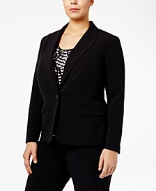 Plus Size One-Button Blazer