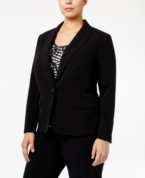Image of Anne Klein Plus Size One-Button Blazer