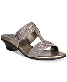Karen Scott Eddina Embellished Slide Sandals, Created for Macy's