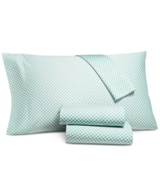Printed Dot Standard Pillowcase Pair, 500 Thread Count, Created for Macy's