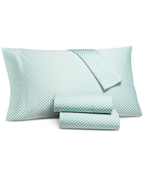 Charter Club Printed Dot Queen 4-pc Sheet Set, 500 Thread Count, Created for Macy's