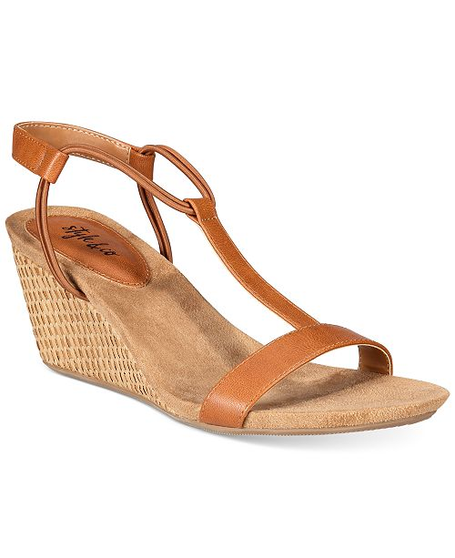 18357a204c7 ... Style   Co Mulan Wedge Sandals