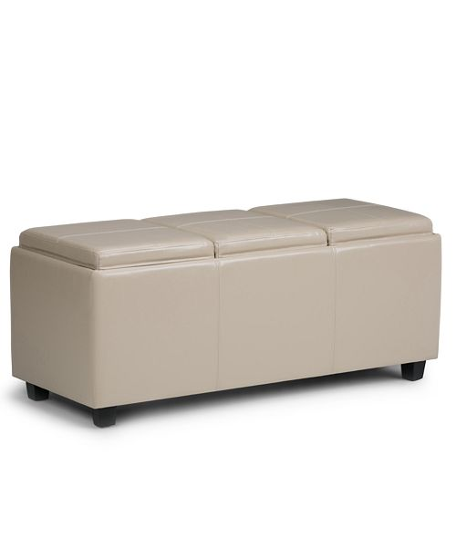 Fine Avalon Faux Leather Storage Ottoman With 3 Trays Quick Ship Ibusinesslaw Wood Chair Design Ideas Ibusinesslaworg