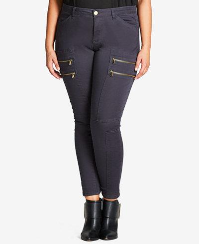 City Chic Trendy Plus Size Commando Skinny Pants