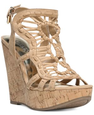 Carlos By Carlos Santana Banjo Platform Wedge Sandals Women