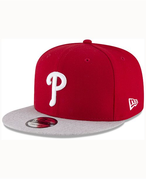 ce577aab8ab ... New Era Philadelphia Phillies Heather Vize 9FIFTY Snapback Cap ...