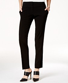 Juniors' Straight-Leg Trouser Pants