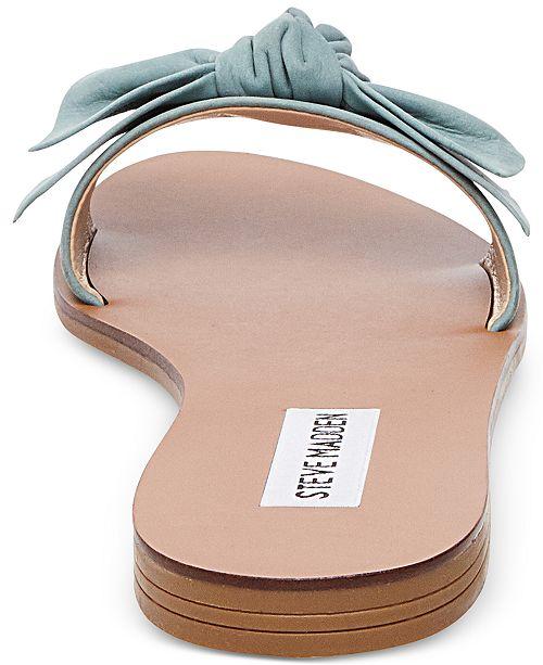 983d4fdb2ca Steve Madden Women s Knotss Bow Sandals   Reviews - Sandals   Flip ...