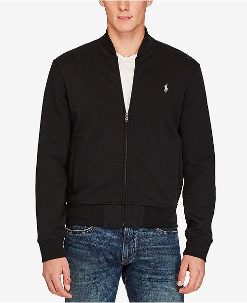 Polo Ralph Lauren Men s Double-Knit Bomber Jacket - Coats   Jackets ... ac4f7df49